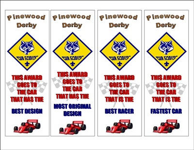 Pinewood Derby Awards4