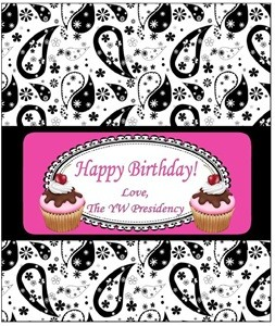 YW Birthday candybar wrappers