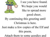 Christmas Elf ( Poem to give with treat to neighbor)