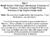 100 Day Book of Mormon Reading Program