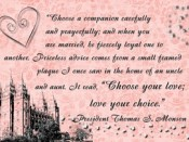 Choose your love; love your choice