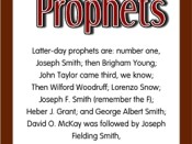 Latter-day Prophet Booklet