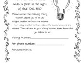 Lights Out Program Handout for Young Women
