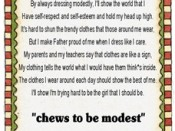 Chews to be Modest Handout