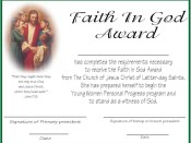 Faith in God Certificates