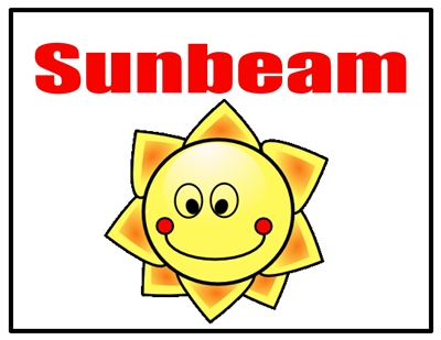 sunbeam door sign p