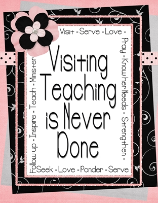 visiting teaching is never done sm