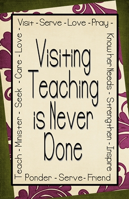visiting teaching is never done 4 x 6 2 sm