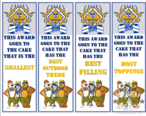 Cub Scout Cake Awards