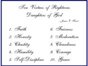 Ten Virtues of a Righteous Women