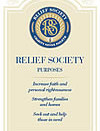 New Relief Society bookmark and poster
