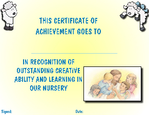 Nursery Certifcate yellow