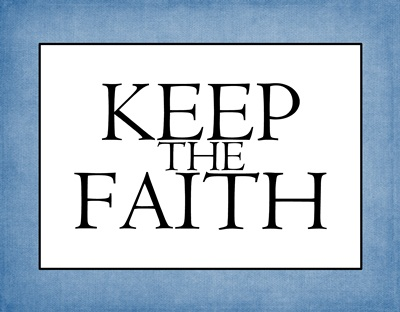 Keep the Faith blue sm