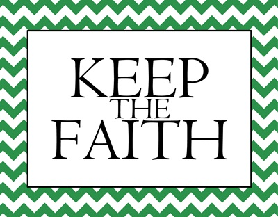 Keep the Faith green sm