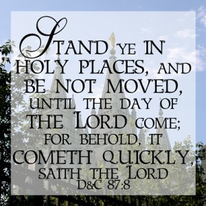 Stand Ye in Holy Places 12 x 12 Printables