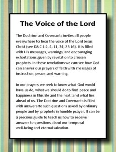 Jan 2013 Home Teaching handouts (The Voice of the Lord)