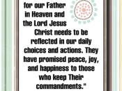 Our love for our Father in Heaven and the Lord Jesus Christ…quote