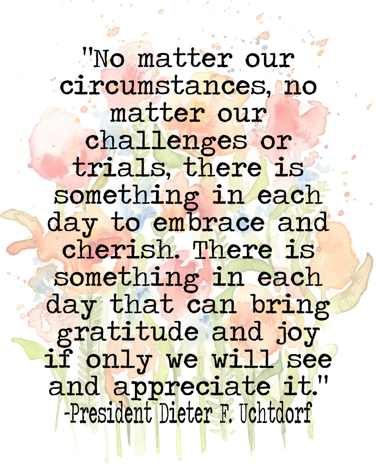 No matter our circumstances…quote