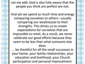 God is fully aware…quote