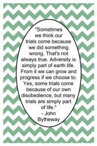 Why do we have adversity?