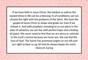 If we have faith in Jesus Christ…quote