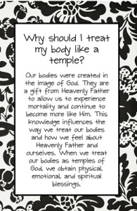 Why should I treat my body like a temple?