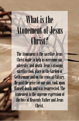 What is the Atonement of Jesus Christ 2 sm