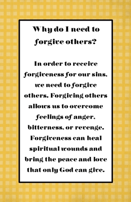 Why do I need to forgive others sm