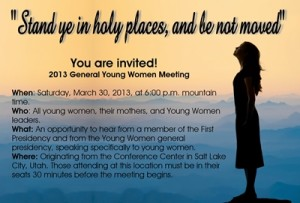 General Young Women Meetings Invites