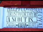 A Scout is trustworthy Candy Bar Wrapper