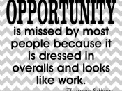 OPPORTUNITY…quote