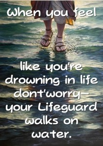 When you feel like you're drowning in life dont'worry…quote