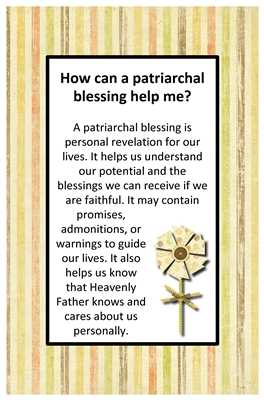 How can a patriarchal blessing help me sm