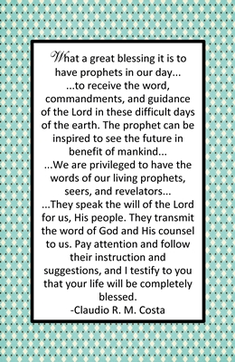 Why is it important to listen to and follow the living prophets 2 sm