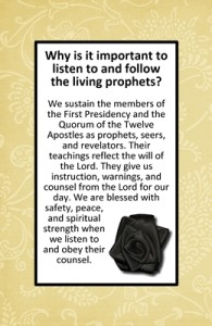 Why is it important to listen to and follow the living prophets?