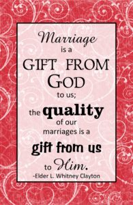 Marriage is a gift from God to us…quote