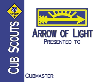 Arrow of Light Certificate 3 sm