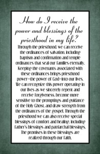 How do I receive the power and blessings of the priesthood in my life?