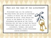 What are the keys of the priesthood?
