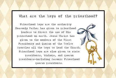 What are the keys of the priesthood sm