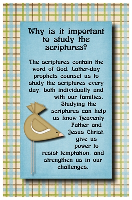 Why is it important to study the scriptures sm