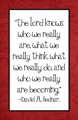 The Lord knows who we really are