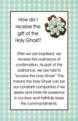 How do I receive the gift of the Holy Ghost sm