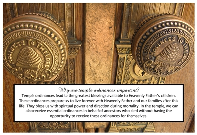 Why are temple ordinances important sm