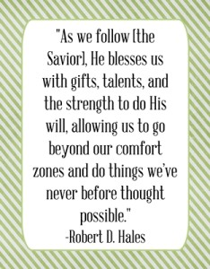 As we follow [the Savior]…quote