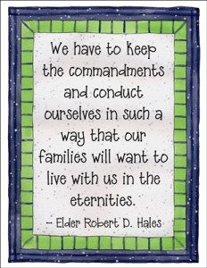 We have to keep the commandments….