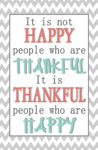 It is not Happy People who are Thankful….