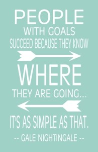 People with goals succeed…quote