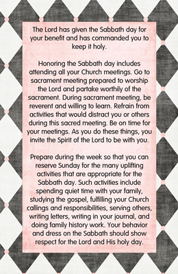 Why are we commanded to keep the Sabbath day holy 2 sm