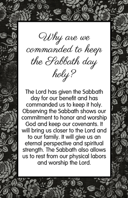 Why are we commanded to keep the Sabbath day holy sm